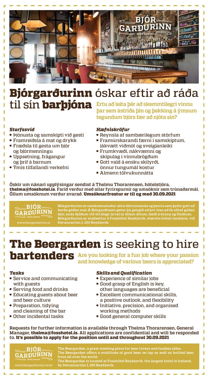 Bjórgarðurinn þjónar - Beergarden waiters
