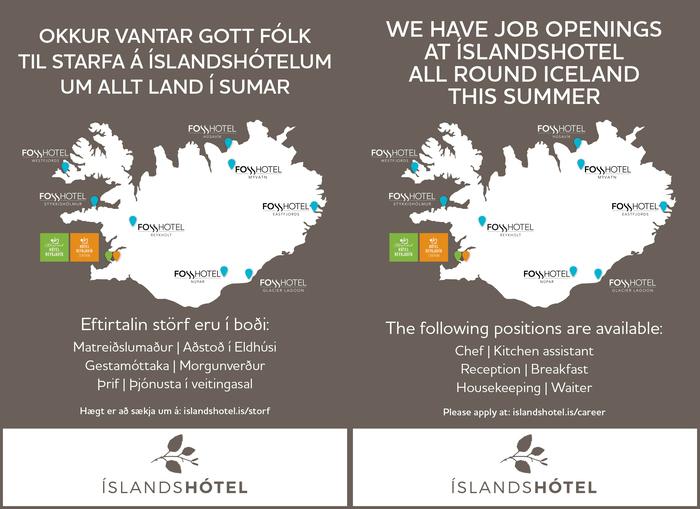 Sumarstörf / Summer Jobs