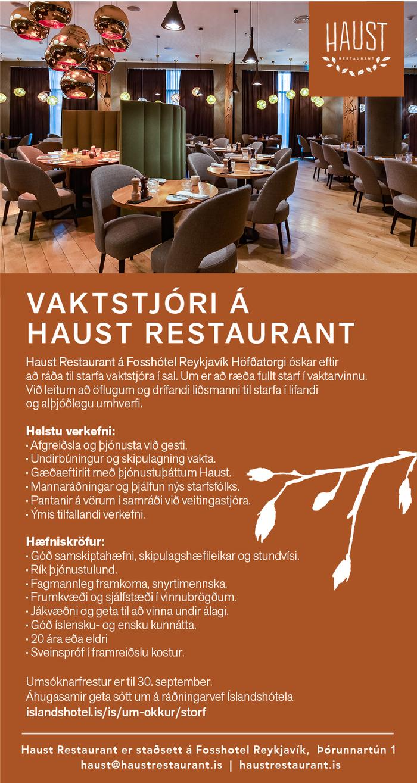 Haust Restaurant