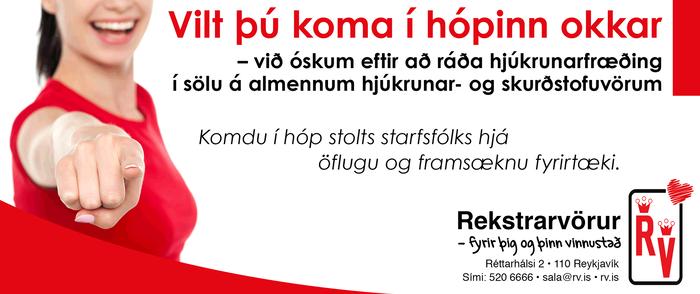 Hjúkrunarfræðingur óskast til starfa hjá Rekstrarvörum. Starf við sölu á hjúkrunar og skurðstofuvörum