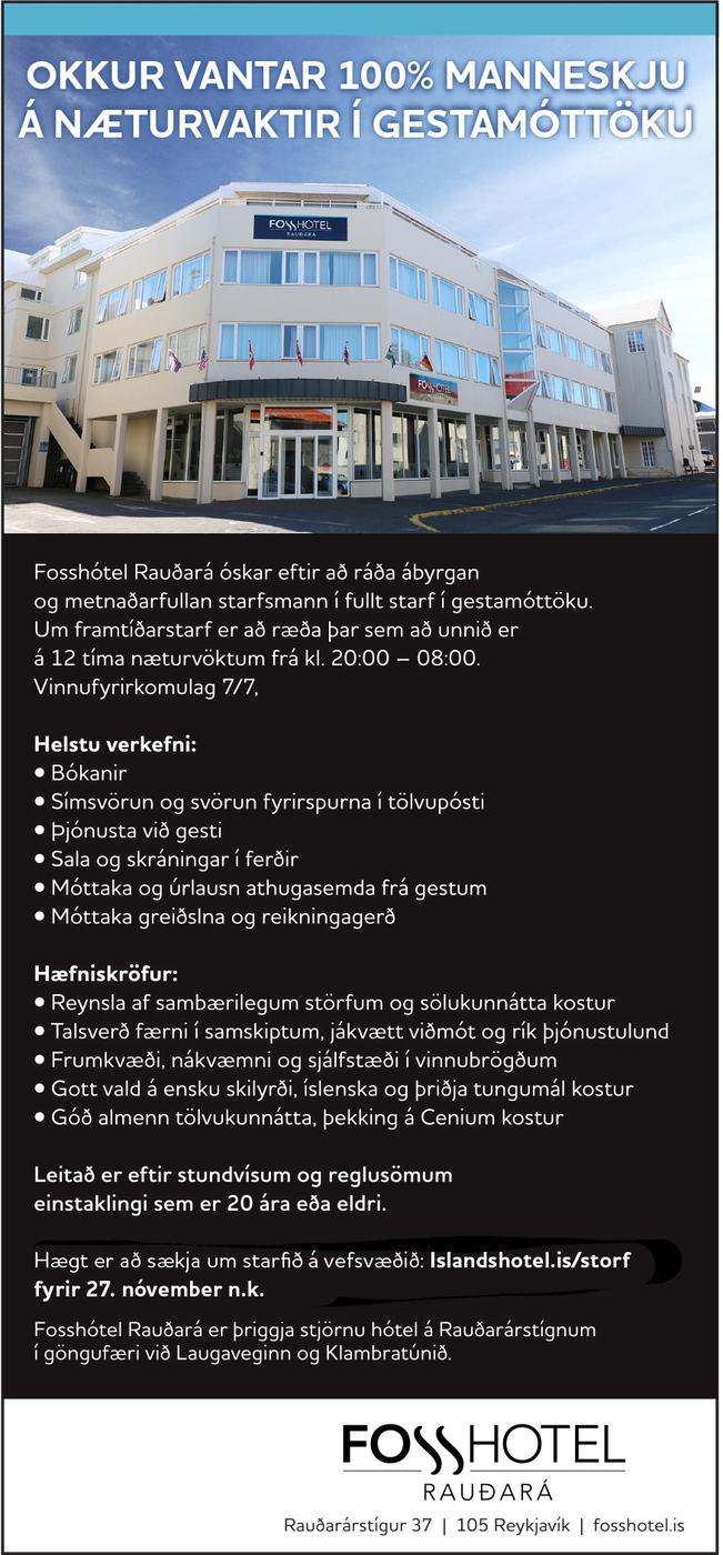 Fosshótel Rauðará