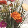 Grass Floral Bundle Poppy 70cm