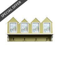 Beach Hut Picture Frame & Hooks 60.5cm