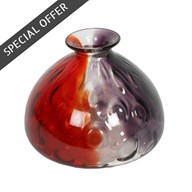 Bevelled Bottle Vase 17.5cm