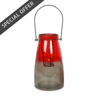 Two Tone Hanging Tealight Lantern 25cm