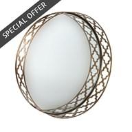 Quadrefoil Clear Mirror 45cm