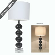 Black Table Lamp 74cm