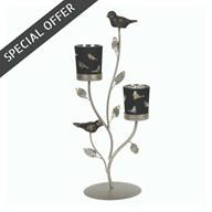 Bird Double Tea-Light Holder 36.5cm