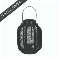 Black Mesh Lantern 25cm