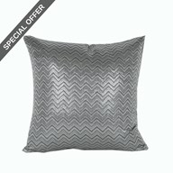 Chevron Cushion Silver 45cm