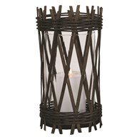Dark Wicker Lantern 27.5cm