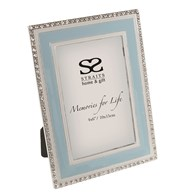 Light Blue Jewelled Photoframe 4x6