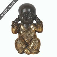 Gold Monk Figurine 20cm