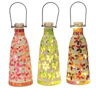 LED Mosaic Hanging Lantern 27cm  3 Assorted