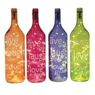 LED Live Bottle 48cm 4 Assorted