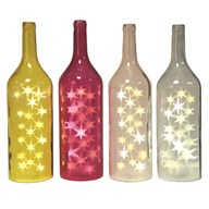 LED Star Bottle 53.5cm 4 Assorted