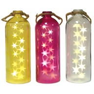 LED Star Bottle 40cm 4 Assorted