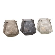 Square Tea Light Holder 12.5cm 3 Assorted