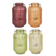Ribbed Lantern 24cm 4 Assorted
