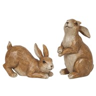 Brown Rabbits 23/14cm 2 Assorted