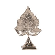 Nickel Leaf Decoration with Base 28.5cm