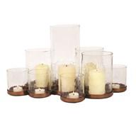 Multi Pillar Candle 9 Table Centerpiece 47cm