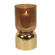 Gold Lustre Pillar Holder 25cm