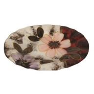 Floral Decor Oval Bowl 30cm