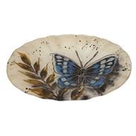 Butterfly Oval Bowl 30cm