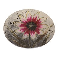 Pink Floral Round Plate 20cm