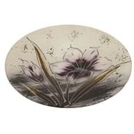 Purple Floral Round Bowl 36cm