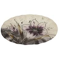 Purple Floral Oval Bowl 30cm