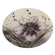 Purple Floral Round Plate 20cm