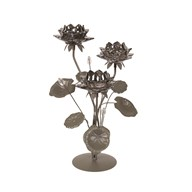 Floral Lustre 3 Tealight Holder 43cm