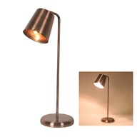 Copper Angled Desk Lamp 57cm