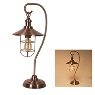 Copper Table Lamp with Cage 59cm