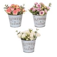 Rose Planter 18cm 3 Assorted