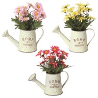 Chrysanthemum Watering Can 19cm 3 Assorted