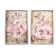 Gown Wall Art 45x65cm 2 Assorted