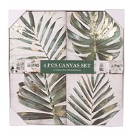 Set of 4 Botanical Canvas 30cm