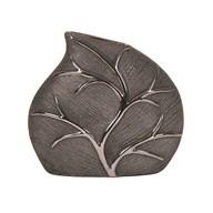 Black Leaf D'cor Vase19cm