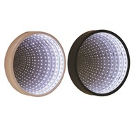 LED Round Infinity Mirror 25cm 2 Assorted