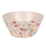 Flamingo Bamboo Bowl 25cm