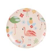 Flamingo Bamboo Plate 20cm