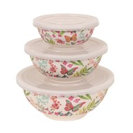 Set of 3 Butterfly Round Bowls