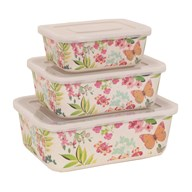 Set of 3 Butterfly Rectangle Boxes