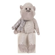 Monkey Teddy with Scarf 20cm