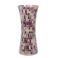 Purple Mosaic Waisted Vase 30cm
