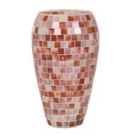 Coral Mosaic Vase 25cm