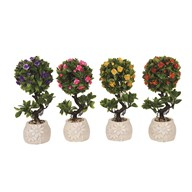 Embossed Topiary Trees 28cm 4 Assorted